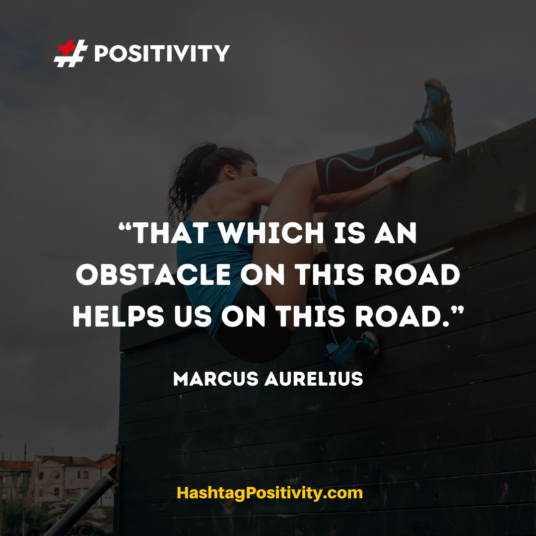 """That which is an obstacle on this road helps us on this road."" -- Marcus Aurelius"